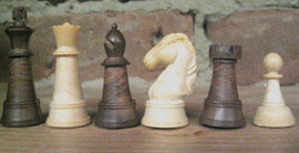 """SOLID CHESS PIECES 2"""" KING"""