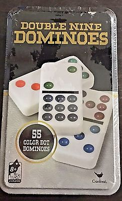DOMINOES DOUBLE 9 TIN COLOUR DOT