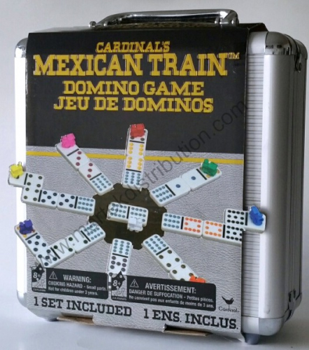 MEXICAN TRAIN DOMINOES IN TIN