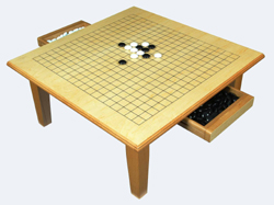 """GO GAME TABLE WITH PIECES 20"""""""