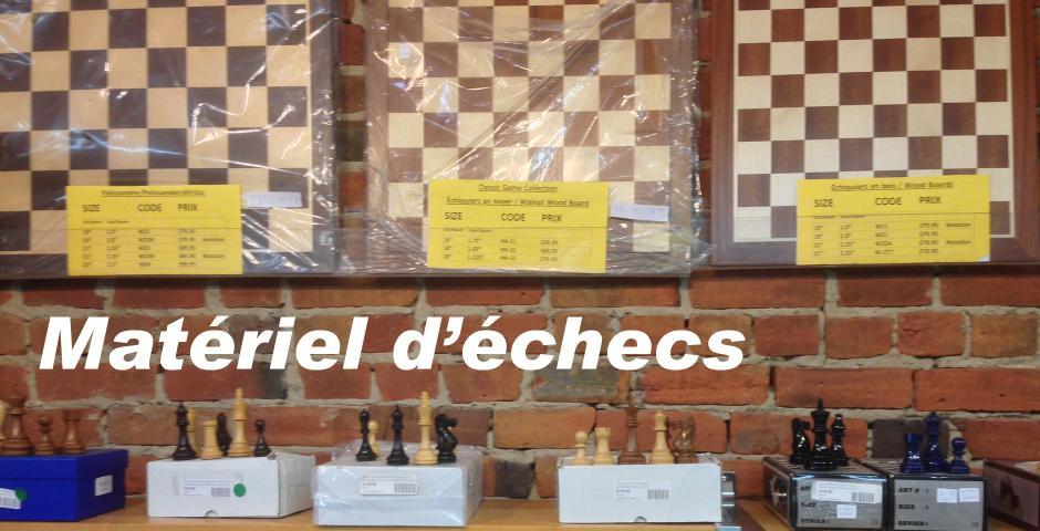 Matériel d'échecs