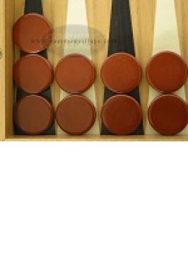 """15"""" BACKGAMMON CHIP/BROWN GP"