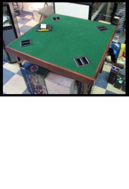 BRIDGE TABLE WITH BIDDING BOXE
