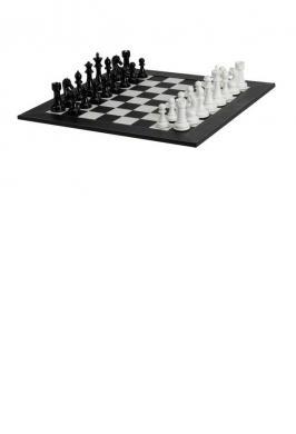 """CHESS SET BLACK & WHITE 4.3"""""""