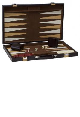 "BACKGAMMON 18"" TAN-BROWN"