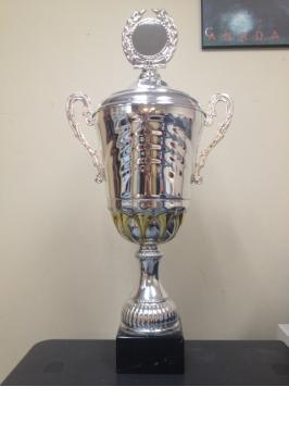 CHESS CUP WITH LID SILVER 3RD PLACE