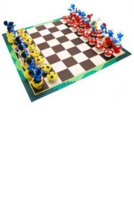 Schtroumpfs Chess Set