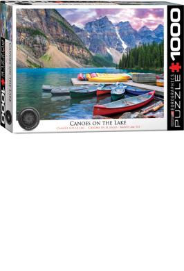 LAKE LOUISE-CANOES ON THE LAKE JIGSAW PUZZLE