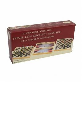 SET OF 3 GAMES MAGNETIC WOOD & PLASTIC