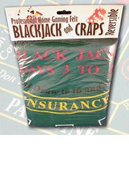 BLACKJACK & CRAPS GAMING FELT
