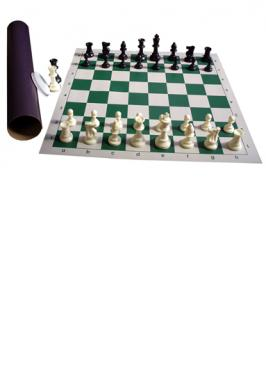 CHESS TUBE U.S. (WITH 2 QUEENS)