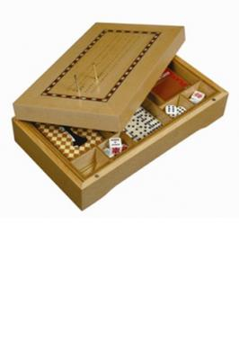 """CRIBBAGE 10"""" CASE 5 GAMES IN"