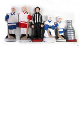 Hockey peint main