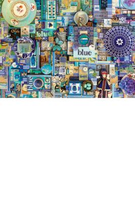 BLUE 1000 PC JIGSAW PUZZLE