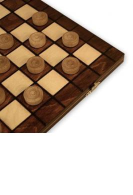 CHECKERS 8 X 8 WOOD (MADE IN P
