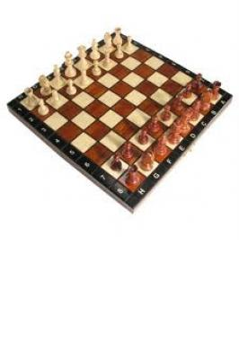 "11"" FOLD'N MAG. WOOD CHESS POLISH"